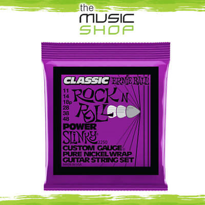 5 x Classic Ernie Ball 2250 Rock N Roll Power Slinky Guitar Strings 11-48