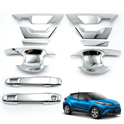 Chrome Door Handle Bowl Insert Cover Trim For New Toyota C-HR Suv 18