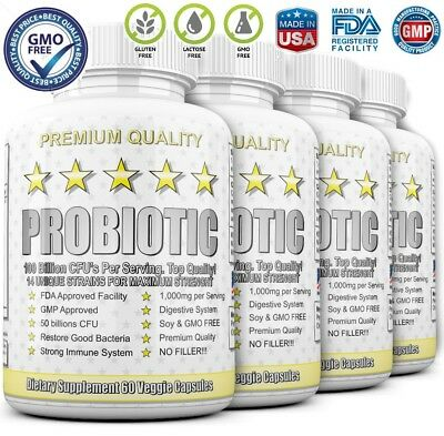 4X ULTRA PROBIOTIC 50-100 Billion CFUs RAW WHOLE ULTIMATE FLORA PRIMAL KEY RENEW