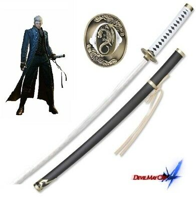 Devil May Cry 3 Vergil Yamato Japanese Katan Sword  with FREE sword stand