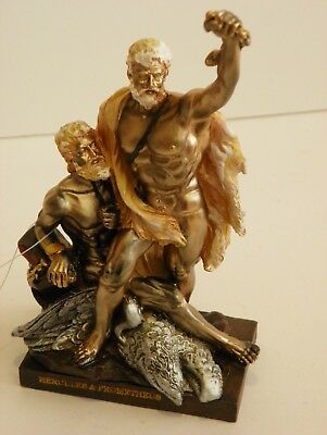 Hercules & Prometheus 6.5'' Figurine  Statue  Historic Collect Greek Mythology