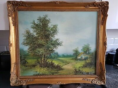Antique / Vintage Oil Painting in Ornate Gold Gilt Picture Frame Medium to large