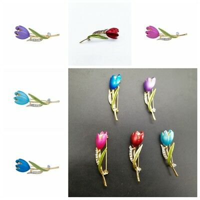 1Pcs Elegant Tulip Flower Brooch Pin Costume Jewelry For Mothers day Gift