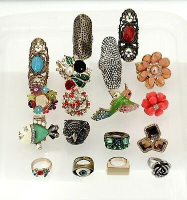Grossiste Revendeur Vente en Gros Destockage Lot de 18 Bague Multicolore Modele