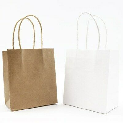 192 x KRAFT Paper Wine Bottle Gift Bags with Handle Shop Carry Bag 18x16x22cm