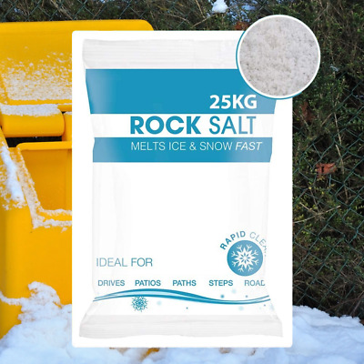 White Rock Salt De Icing Gritting, Defrost Ice & Snow Path, Steps Driveway, Road