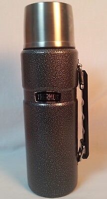 Thermos Hot/Cold 40oz Gray Vacuum Insulated food/beverage Bottle EUC