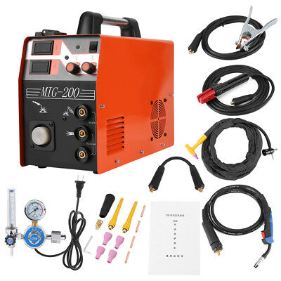 3 in1 Welder MIG Welder Gas Shield Welding Machine 2T/4T Inverter Arc TIG 220V