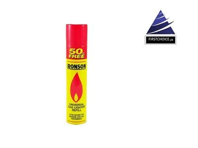 (250+50ml free) 300ML NEW Ronson universal quality Lighter Butane Gas