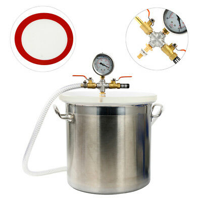 【Ships from Canada】5 Gallon Stainless Steel Vacuum Chamber kit