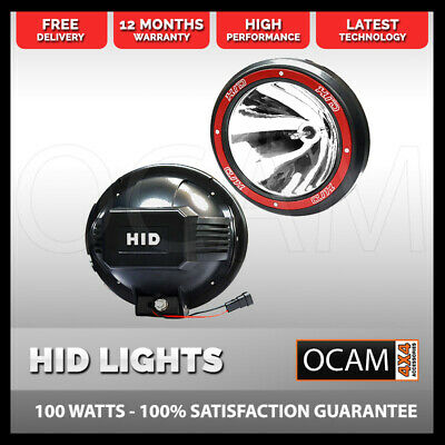 Pair 9Inch 100W Hid Xenon Driving Lights Euro Spot Offroad Work Ute