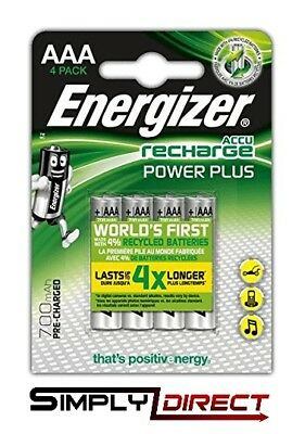 Energizer 700 mAH AAA Power Plus Pre - Charged Rechargeable Batteries HR03 NiMH