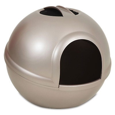 Booda Dome Round Ball Cat Litter Box Tray Hooded Covered Box Toilet Capuccino