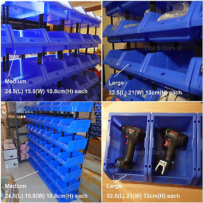 Heavy Duty Storage Tote Bin Handy Stackable Plastic Micro Toolbox Unit Organiser