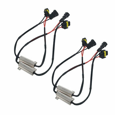 H8/H11 Auto Lamp LED Decoder LED Wire for single resistor Decoding 50W 6Ω L