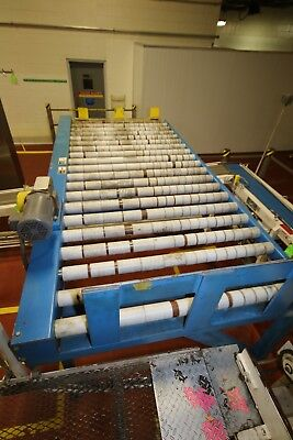 """Lewco Bulk Case Roller Conveyor with 51"""" W Rollers and Drive,"""