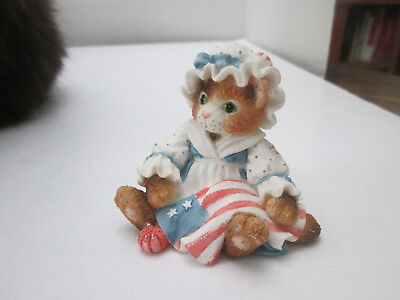 1994 Enesco Calico Kittens Figurine Tabby Cat You're My All American Friend 2159