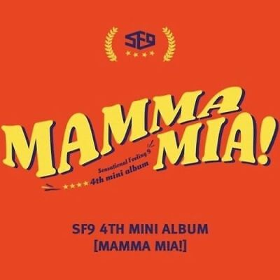 SF9  [Mamma Mia!] 4th Mini Album CD+Booklet+PhotoCard+PostCard+ 1 folded poster