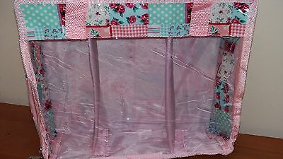 BNWT-Hobby Gift-MRFQ36-Pretty Patchwork Design Fat Quarters Storage Bag