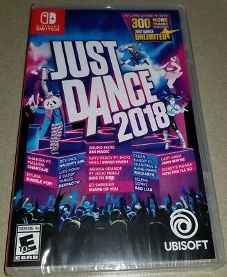 Just Dance 2018 for Nintendo SWITCH ubisoft dancing game new unopened