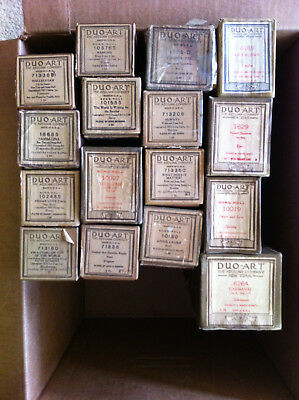 Lot of 16 Duo Art Player Piano Rolls