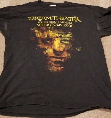 Dream Theater Scenes From A Memory 2000 Vintage Rare XL T Shirt Metropolis Live
