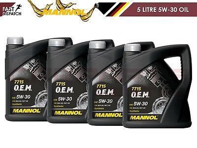 Mannol 5W30 Fully Synthetic Longlife Vw Engine Oil Vw504 Vw507 Specification