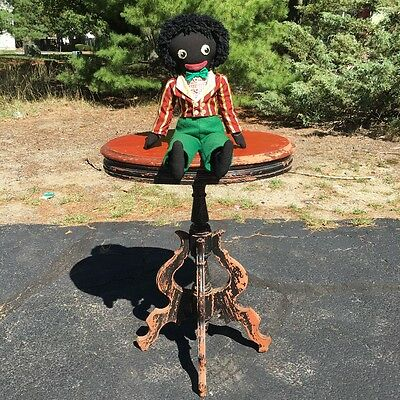 Black Negro American/British Doll;Rare;Minstrel;Slavery;Antique;Primitive;Folk