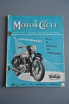 R&L Mag:  Motor Cycle 21 January 1954 Brussels Show/F H Whittle Trials Sidecar