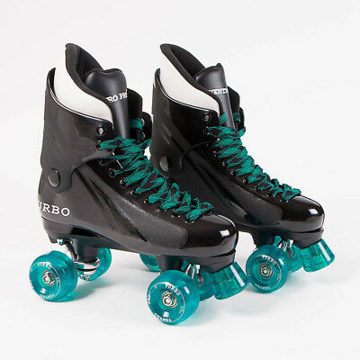Ventro Pro Turbo Quad Roller Skates, Bauer Style - Teal Ventro Wheels