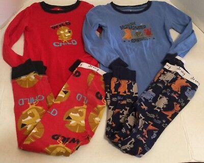 Old Navy Boy's 5T Pajama Sets Lot Of 2 Pairs Monster Lion