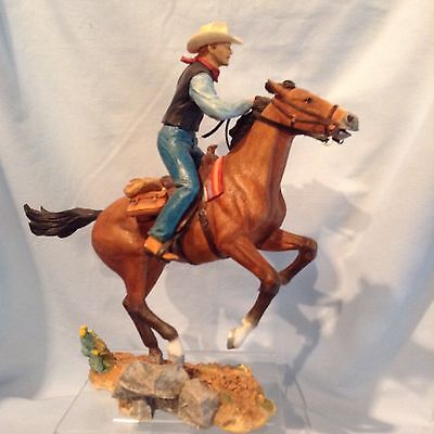 "Country Artists Cowboy on Horse Figurine 9.75"" CA04309 2006 w /shelf tag $99.99"