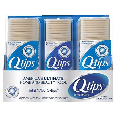 (1750 Pieces) Q-Tips Cotton Soft Swabs Eye Care/First Aid/Household