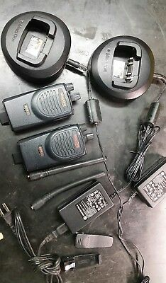 2 Motorola BPR40 MAG ONE vhf 8 Ch 4 Watt Two Way Radio & Chargers.  NO SCRATCHES
