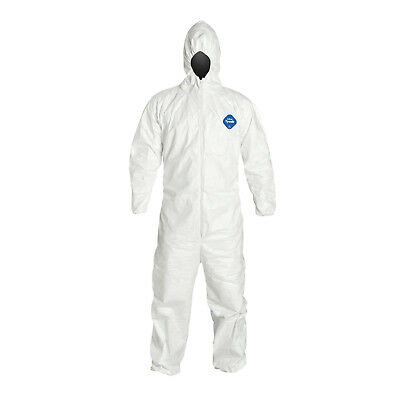 "BX6, DuPont Tyvek 400 TY127S Protective Coverall W/Hood, Disp, Elastic Cuff ""3X"""