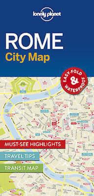 Rome Lonely Planet Map - New - City Map - Transit Map