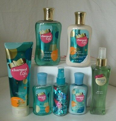 7 Pc Bath & Body Works Charmed Life Set Lotion Shower Gel Body Cream Mist  Lot