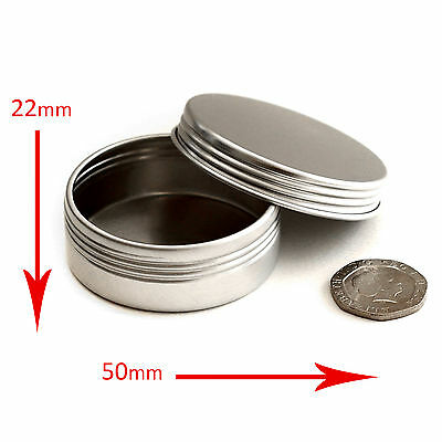 50 x 20ml Empty Cosmetic Screw Top Pots/Jars/Tins - Creams *BEST BUY* jja50