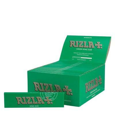 1 5 10 20 50 Rizla Green King Size Thin Genuine Cigarette Rolling Papers
