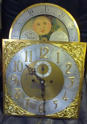 Antique Longcase Moonphase Movement And Dial Dauler Close+Johns Pittsburgh