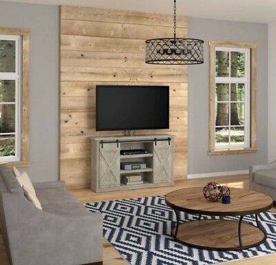 60 Inch Tv Stand Rustic Entertainment Center Farmhouse Barn Door