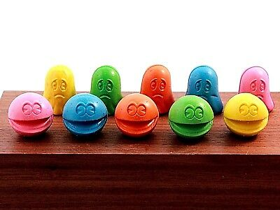 New/old Stock 1980 Pac-Man Erasers. 10 Erasers. Bally Midway