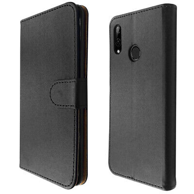SDTEK PU Leather Wallet Flip Cover Case for Huawei P Smart (Black)