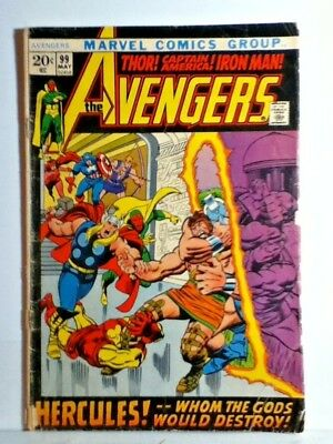 The AVENGERS #99 May 1972 THOR ! CAPTAIN AMERICA ! IRON MAN ! HERCULES !