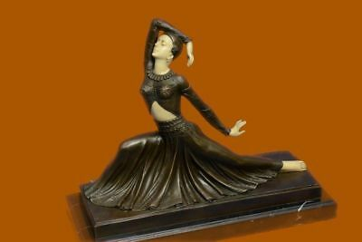 DH Chiparus Bronze Sculpture Figural Exotic Dancer Lady Woman Art Deco Signed