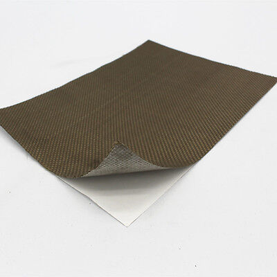 Reinforced Adhesive Backed Lava Heat Shield Resistant High 1200 degree 24''X24''
