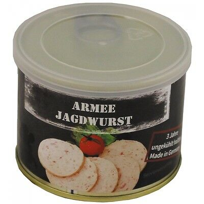 MFH Army jagdwurst 190g Sausage Outdoor Food Catering Essen Emergency Catering