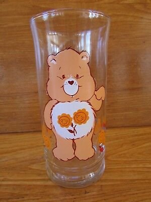 Vintage Care Bears FRIEND BEAR Pizza Hut Promo Glass 1983
