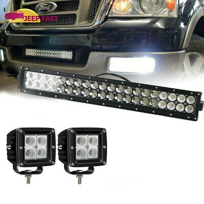 For 2005 2006 2007 2008 Ford F150 20inch Led Light Bar W 2 X