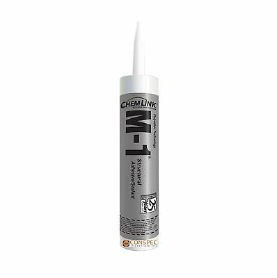 Chemlink M-1 WHITE Structural Adhesive Sealant 10.1 oz Cartridge 1 TUBE